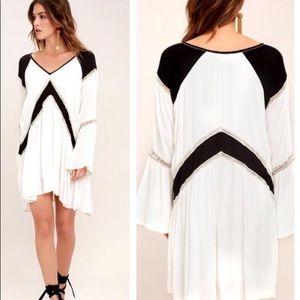 Amuse society topaz long sleeve dress